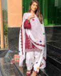 3 Pc Un-Stitched Lawn Aari Work Suits With Chiffon Dupatta-SOS0038