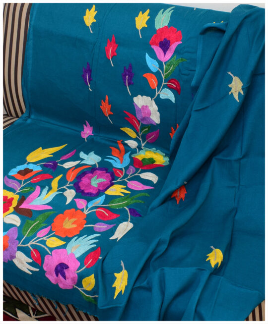 3 PC Lawn Hand Embroidered Multi Color Aar Work With Lawn Dupatta-SOS0053
