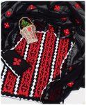3 PSc Un-Stitched Lawn Applique Work Dress With Chiffon Dupatta - NI15B