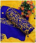 3 PCs Un-Stitched Lawn Bareeze Jaal Suits With Chiffon Dupatta - NI15D