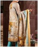 Unstitched 3 PCs Printed Lawn Shirt with Printed Lawn Dupatta & Cambric Trouser - IP-08B