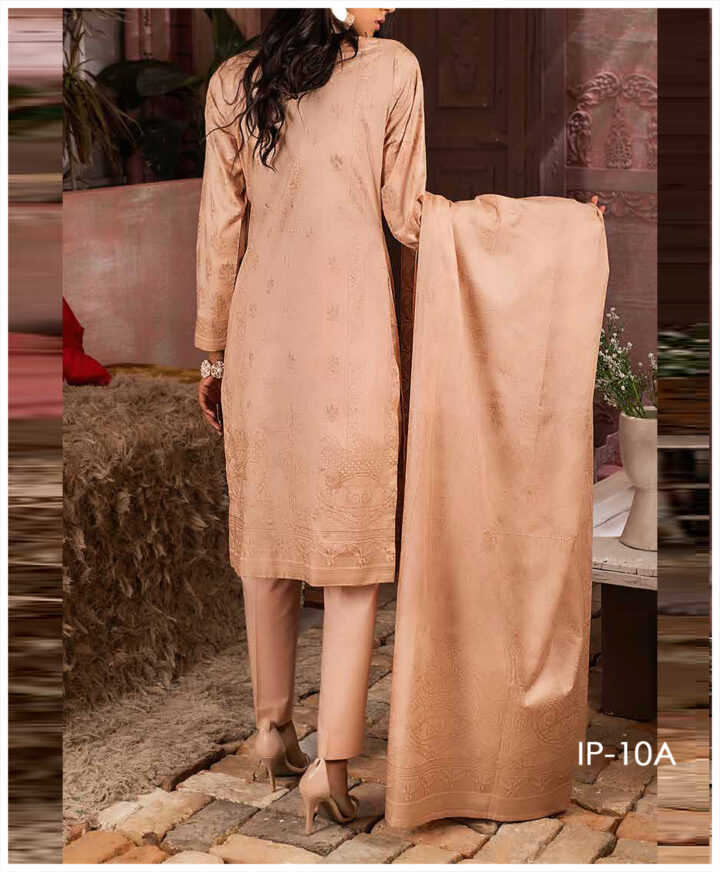Unstitched 3 PCs Printed Lawn Shirt with Printed Lawn Dupatta & Cambric Trouser - IP-10A