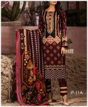 Unstitched 3 PCs Printed Lawn Shirt with Printed Lawn Dupatta & Cambric Trouser - IP-11A