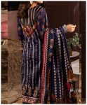 Unstitched 3 PCs Printed Lawn Shirt with Printed Lawn Dupatta & Cambric Trouser - IP-11B