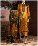 Unstitched 3 PCs Printed Lawn Shirt with Printed Lawn Dupatta & Cambric Trouser - IP-12A