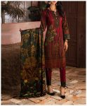 Unstitched 3 PCs Printed Lawn Shirt with Printed Lawn Dupatta & Cambric Trouser - IP-12B