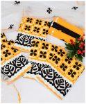 3 PCs Cotton Lawn Un-Stitched Handmade Applique Work Suits With Chiffon Dupatta - NI1901B