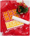 3 PCs Cotton Lawn Beautiful Applique Work Suits With Chiffon Dupatta - NI56B