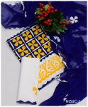 3 PCs Cotton Lawn Beautiful Applique Work Suits With Chiffon Dupatta - NI56C