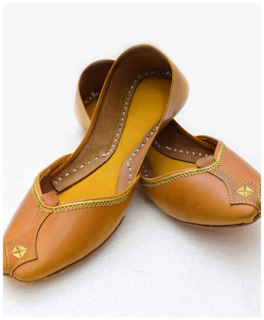Selection Pure Leather Hand Made Multani Khussa With Leather Sole SKD1