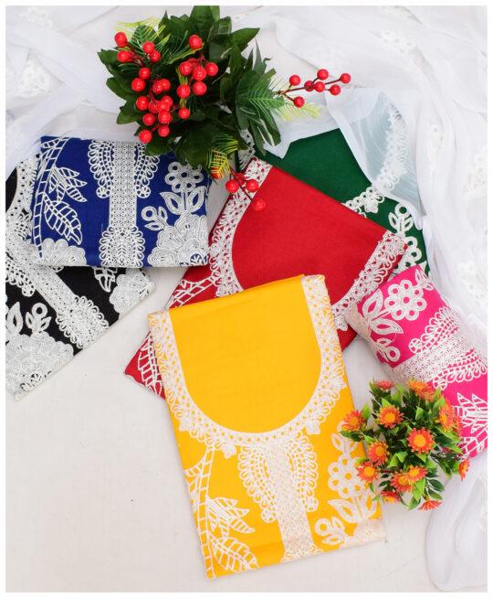 3 PCs Aari Work Lawn Embroidered Suits With Chiffon Dupatta – NI1905C
