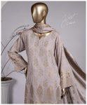 3 PCs Jackuard Lawn Banarai Un-Stitched Dress - NJ-03