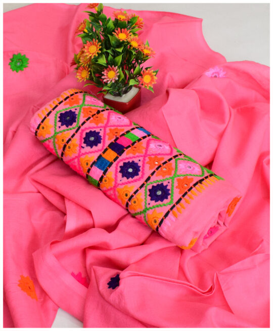 Beautifully Hand Crafted 3 PC Lawn Suit With Lawn Dupatta - MAZ815