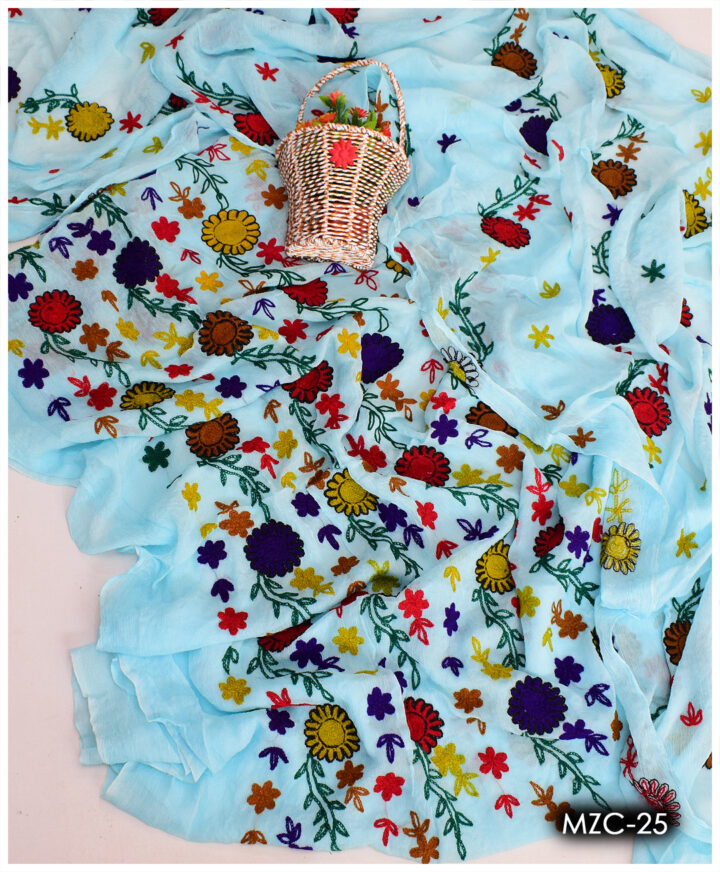 Aar Pasham Work 2 PC Chiffon Shirt and Dupatta - MZC-25
