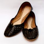 Pure Leather Hand Made Khussa In Cut Work Style With Leather Sole