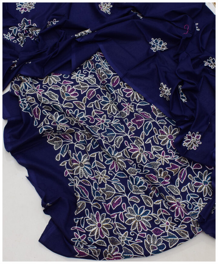 Lawn 3 PC Un-Stitched Hand Embroidery Suit With Lawn Dupatta - SEL-28