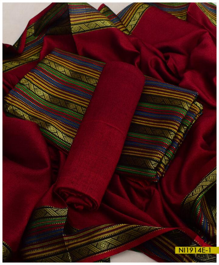 Plain Sussi Silk 3 PCs With Zarri Work Trouser Suits - NI1914E