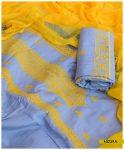 Linen 3 PCs Un-Stitched Cross-Stitch Work Suits With Chiffon Dupatta - NI239A