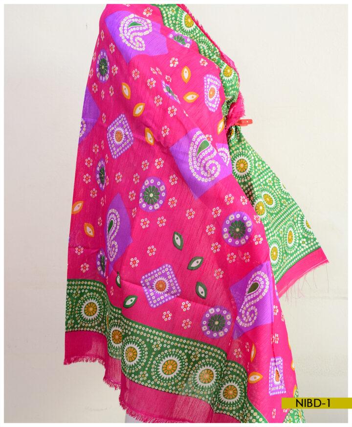Cotton Banglore Chunri Print Style Dupattay - NIBD