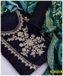Latest Winter Linen 3 PCs Ladies Embroidered Suit with Wool Shawl - S02-4566B