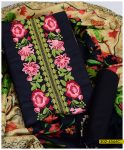 Winter Linen Embroidered 3 PCs Women Un-Stitched Dress with Wool Printed Shawl - S02-4566C