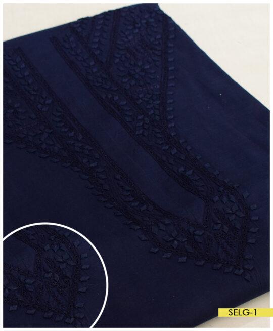 Un-Stitched Neck Embroidery Gents Soft Cotton Shalwar Kameez Suits – SELG