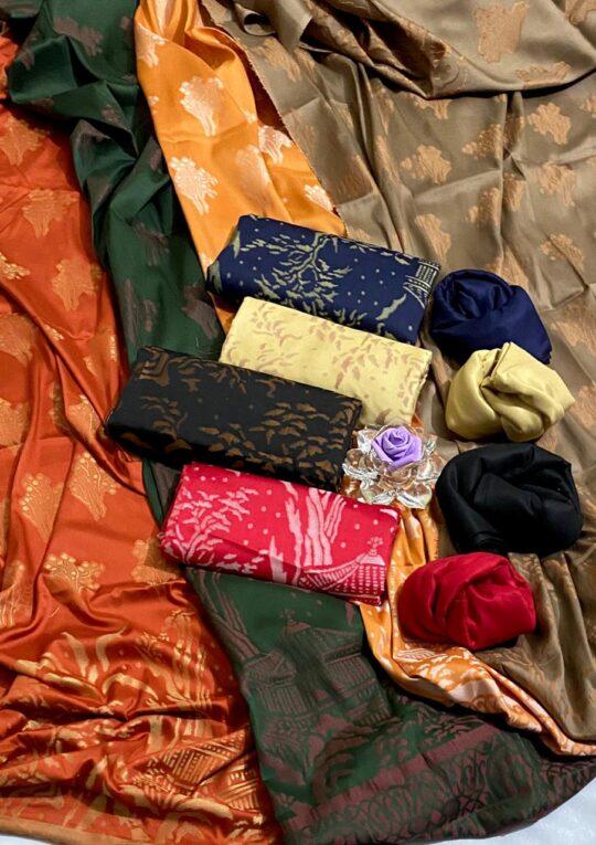 Jackuard Linen Banarsi 3 PCs Un-Stitched Suits – FS2210A