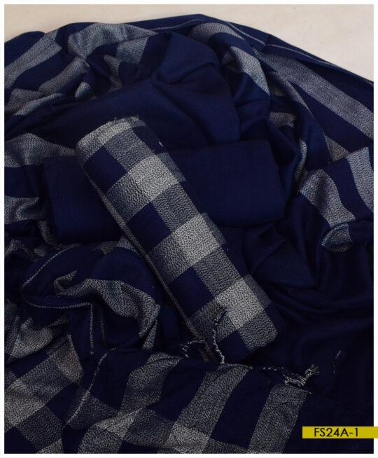 3 PCs Wool Winter Un-Stitched Suits – FS24A