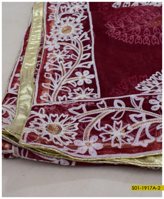 Organza Embroidered Dupatta – S01-1917A