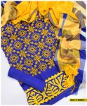 Light Weight Marina 3 Pcs Aari and Applique Work Suits with Shawl - S01-1920C
