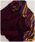 Sussi Silk 3 PCs Un-Stitched Women Dress With Multi Color Shawl - S02-4724B
