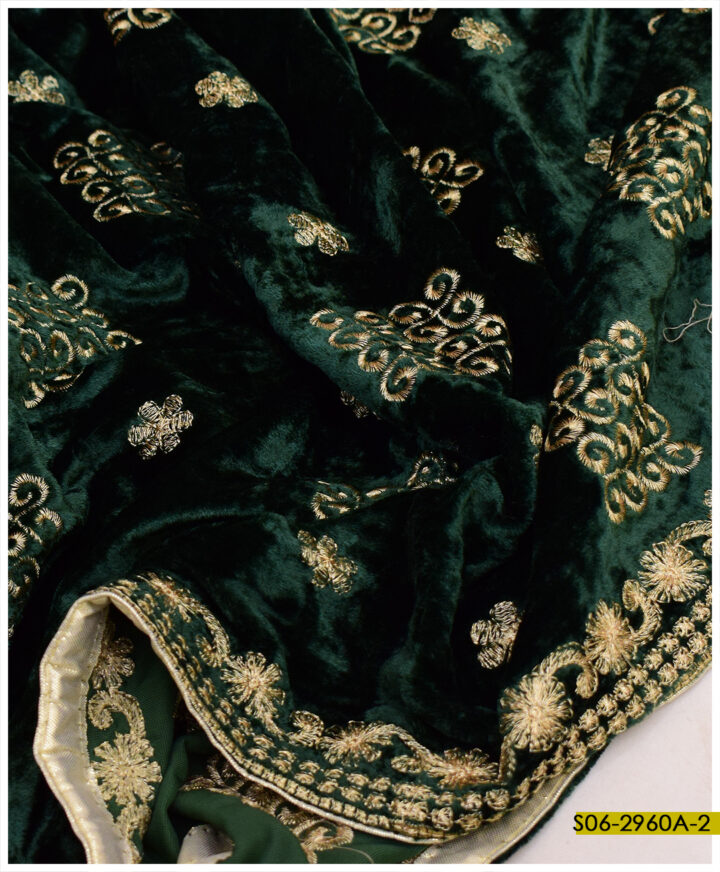 Embroidered Velvet Shawl - S06-2960A