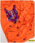 Linen Hand Embroidered 3 PC Un-Stitched Suit - SEL-113