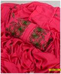 Hand Embroidered Linen 3 PCs Un-Stitched Suit with Linen Dupatta - SEL-120