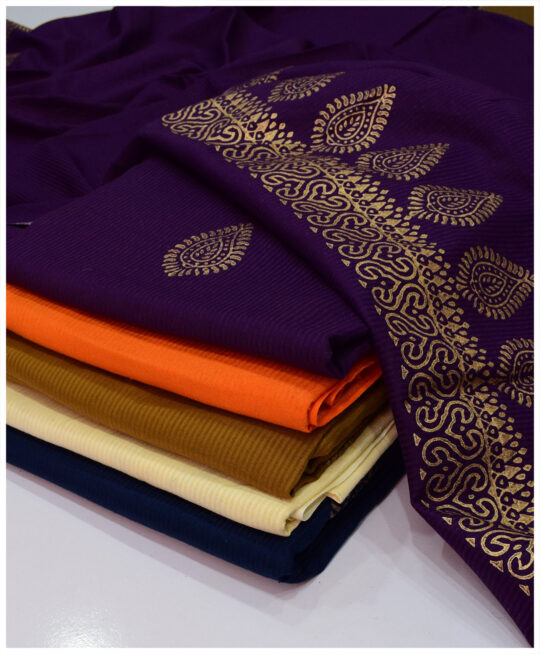 Linen 2 PCs Un-Stitched Screen Printing Shirt and Dupatta – FS2711A