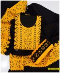Acrylic Wool 3 PCs Embroidered Suits for Winters - S01-1923A