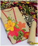 Embroidered Linen 3 PCs Winter Suits with Wool Shawls - S02-4293A