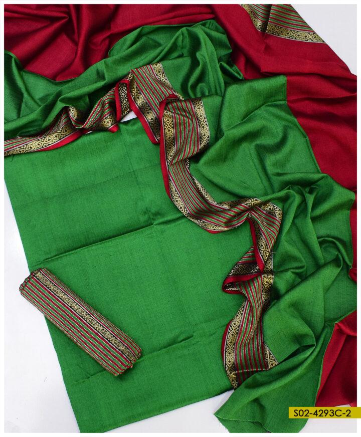 Winter Sussi Stuff 3 PCs Zari Un-Stitched Suits - S02-4293C2
