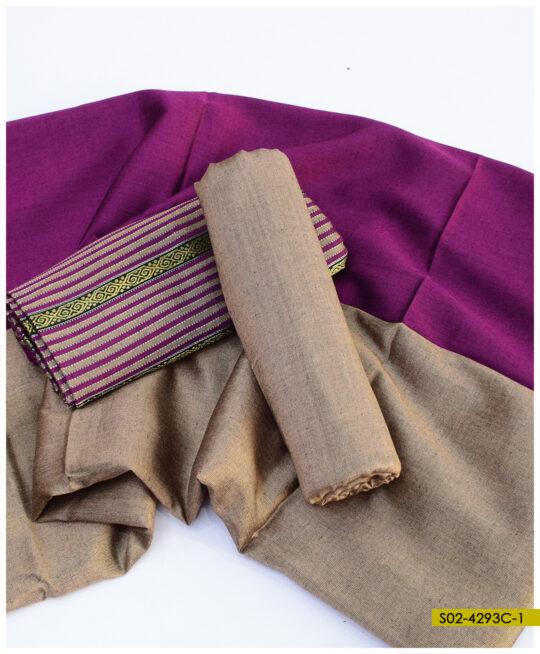 Winter Sussi Stuff 3 PCs Zari Un-Stitched Suits – S02-4293C
