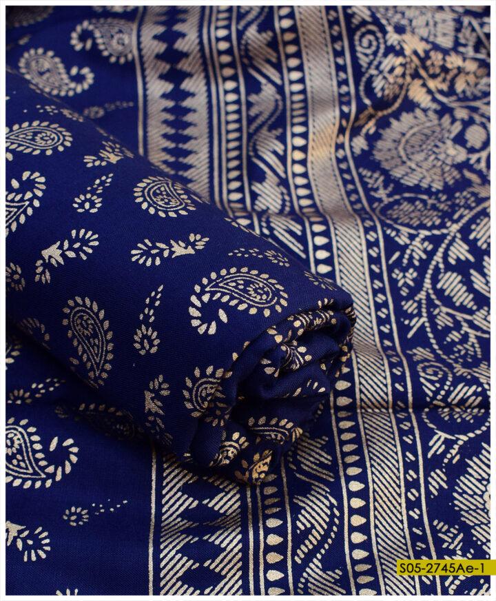 Printed Linen 2 PCs Shirt and Dupatta - S05-2745Ae