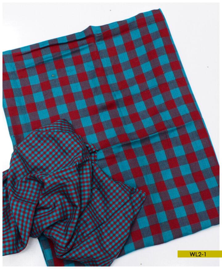 2 PCs Acrylic Wool Un-Stitched Suits - WL2-1