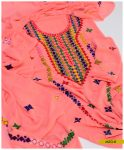 Georghet Hand Embroidered Unstitched Shirt and Dupatta -MZG8