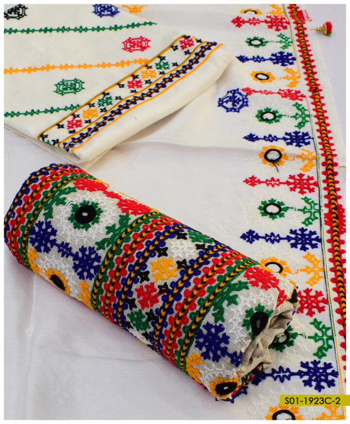 3 PCs Balochi Embroidered Winter Suits - S01-1923C