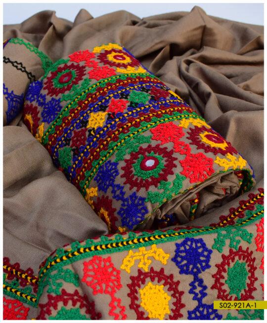 Balochi Embroidery on Light Weight Marina 3 PCs Suits – S02-921A