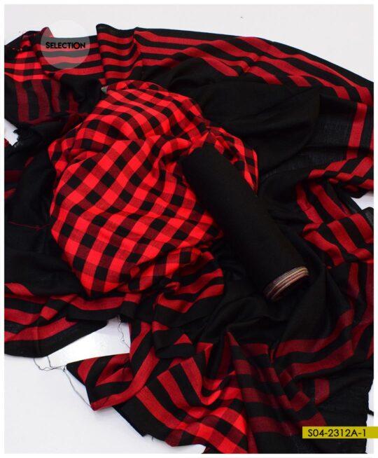 3 PCs Un-Stitched Wool Winter's Suits – S04-2312A
