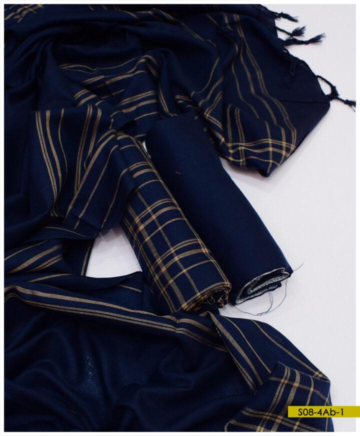 3 PCs Acrylic Wool Un-Stitched Winter Suits - S08-4Ab