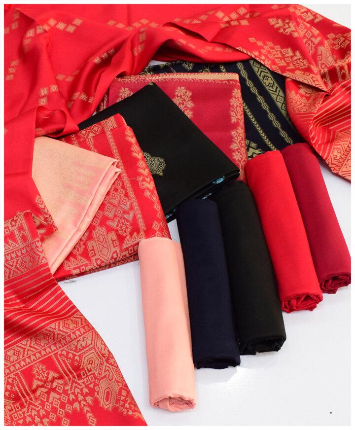 Winter's Linen Jackuard Banarsi 3 PCs Un-Stitched Suits - S08-5B