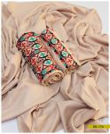 3 PCs Computer Embroidery Light Weight Marina Suit with Wool Shawl - SEL174