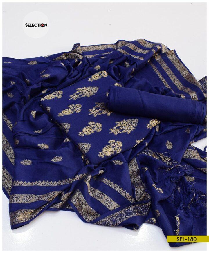 Printed Linen 3 PCs Un-Stitched Suit - SEL180A