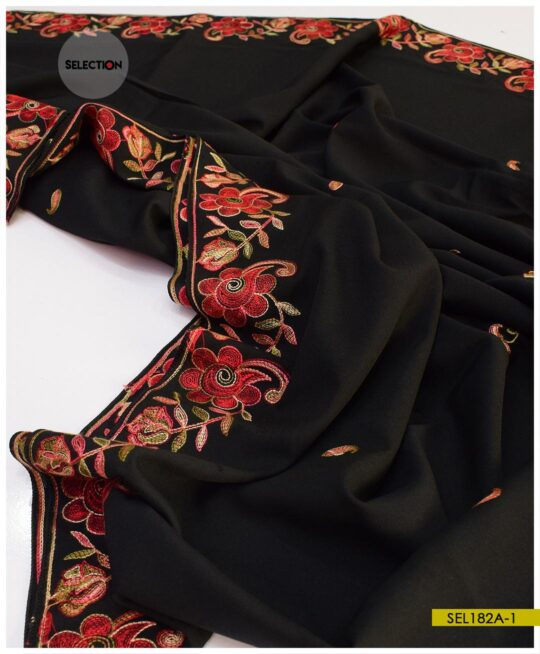 Wool Parda Size Embroidered Shawl for Women – SEL182A